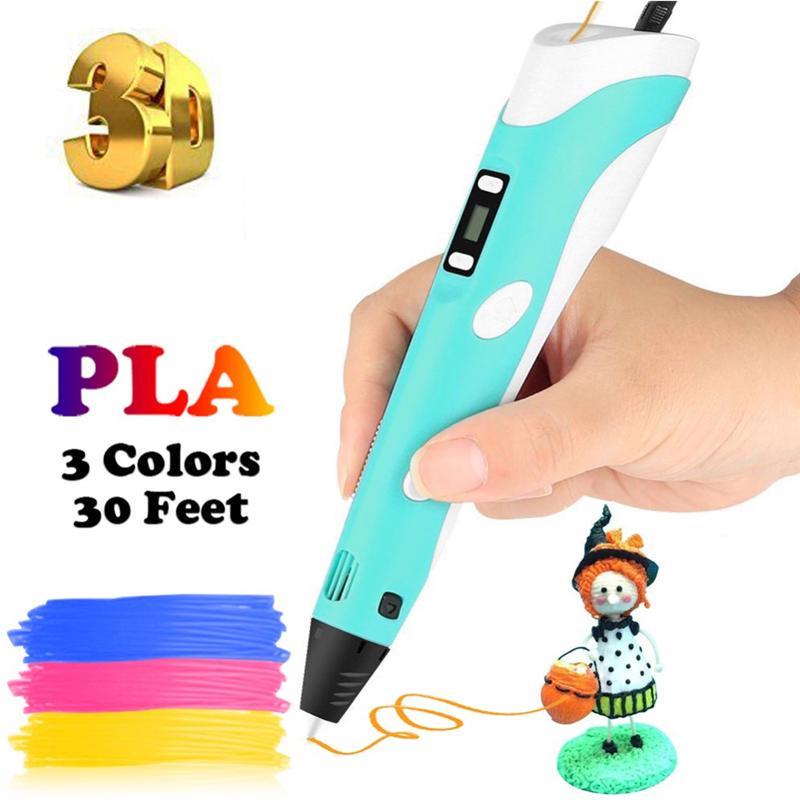 DIY 3D Printing Pen with 3 Color ABS//PLA Filament