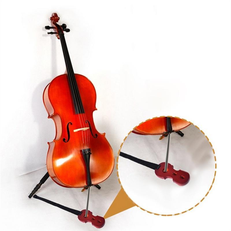 Cellos 1pc Cello Anti-skid Mat Portable Wooden Portative Rubber Base Non-slip Protector Orchestral