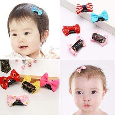 Mini Bow Barrettes Baby Girls Floral Hair Clips Kids Hairpins Hair Accessories