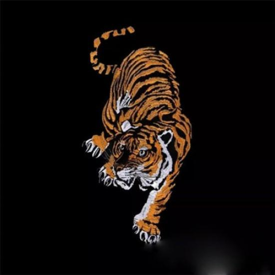 Large Tiger Embroidered Animal Applique Sew Iron on Cloth Craft Patch Badge New