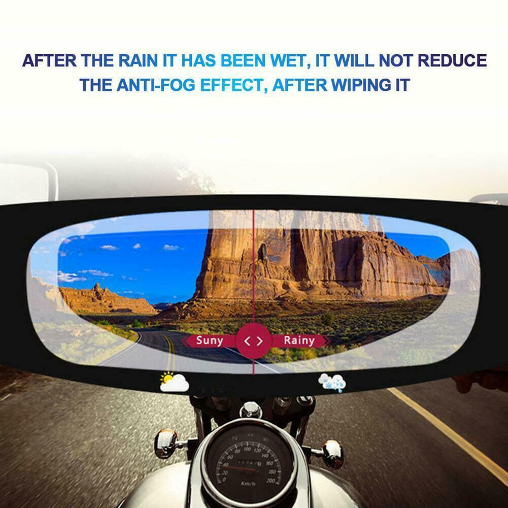 Anti-Fogging Helmet Lens Film For Motor Visor Shield Rain Resistant Universal
