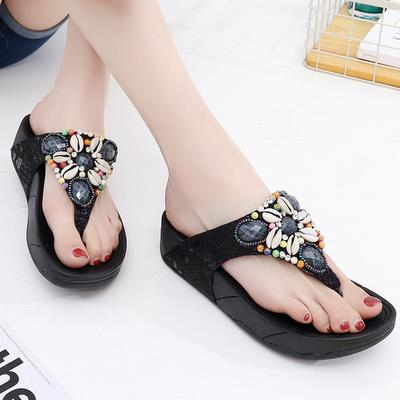 c76bad147955 Summer Style Fashion Bohemia Shoes Casual Fitness Shoes Fashion Shoe  Sandals Slippers Flip-flops
