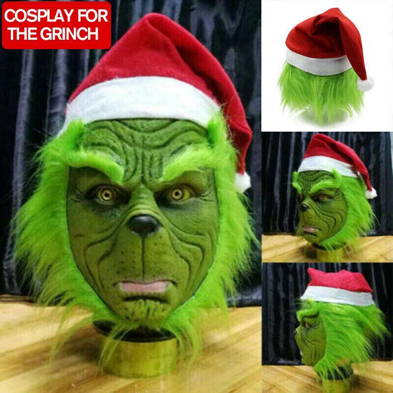Santa Grinch Maschera Per Halloween /& Natale