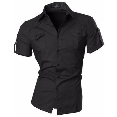 3420d19580 Moda męska Slim Art Printing Długie rękawy Przycisk Down Dress Koszule Topy  JZS055
