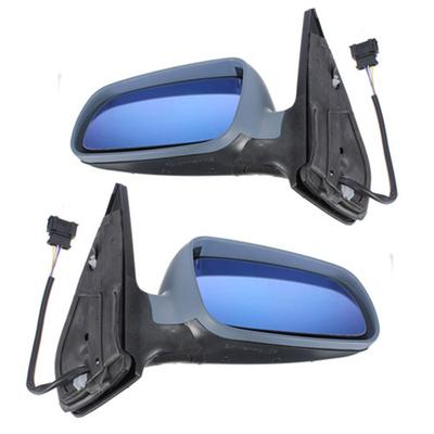 Renault Megane MK1 1999-2003 Left Side Electric Heated Door Mirror Met Dark Blue