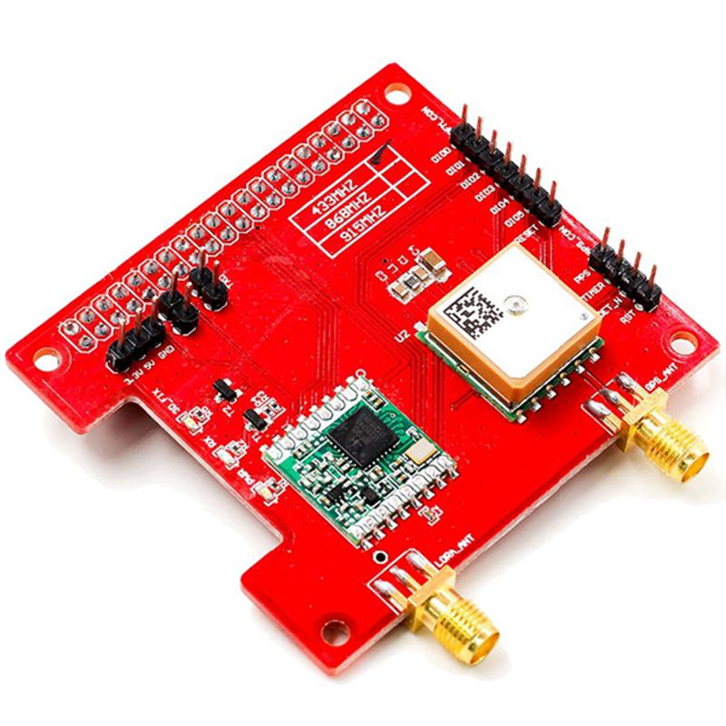 LorGPS HAT V1.0 version Lora//GPS/_HAT is a expension module for LoRaWan and GPS