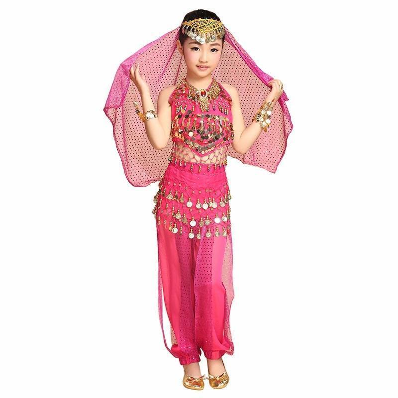 Los niños danza del vientre traje rendimiento ropa conjunto ropa ...
