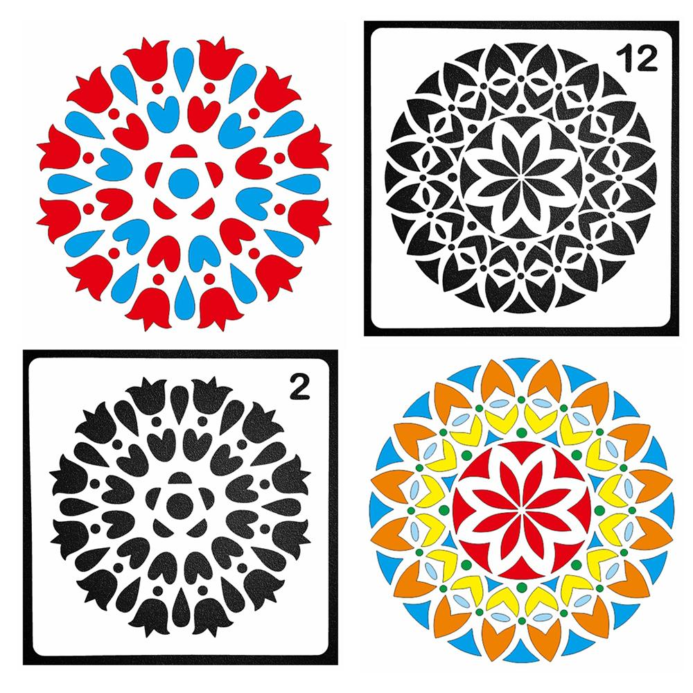 Circle Line Pochoir Pierre peinture Planner modèle Scrapbook Cardmaking journal