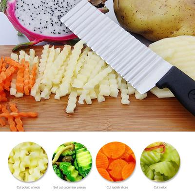 Stilvolle Praktische Crinkle Cut Kartoffel Chip Schneider Mit Wellenförmige Food Preparation & Tools