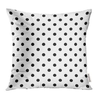 Black White Cute Rabbit Pattern Girls Kids Bedroom Home Decor Funny Bunny Polka Dots Pillow Sham New Home Birthday Christmas Gift for Her
