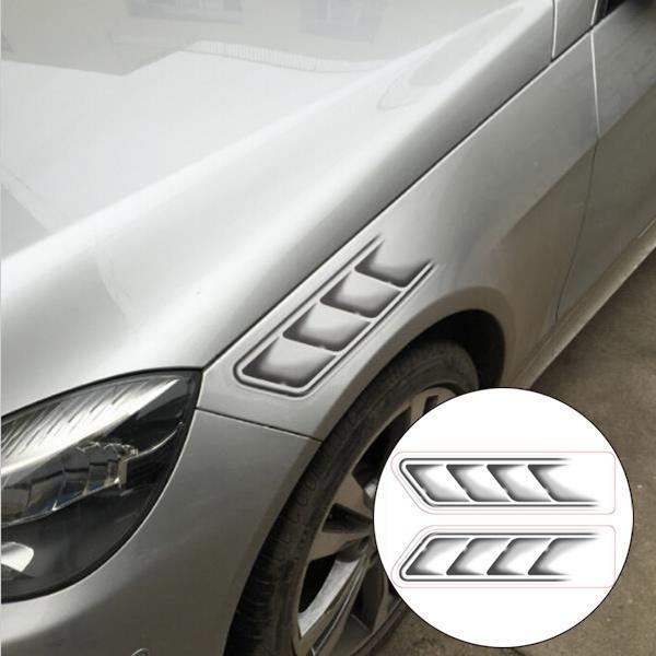 Details about  /Ventilaciones Falsas Decorativa para Autos Ventilaciones laterales de Coche Auto