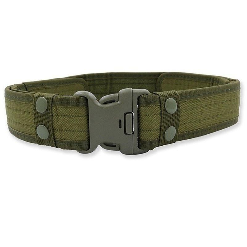 Adjustable Men Nylon Military Belt Buckle Combat Waistband Women Outdoor Sports