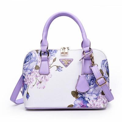 d6a36a15134c Печать цветочные моды женщин сумка бренда Shell кожаные сумки Сумки на  плечо сумки дизайнер лето