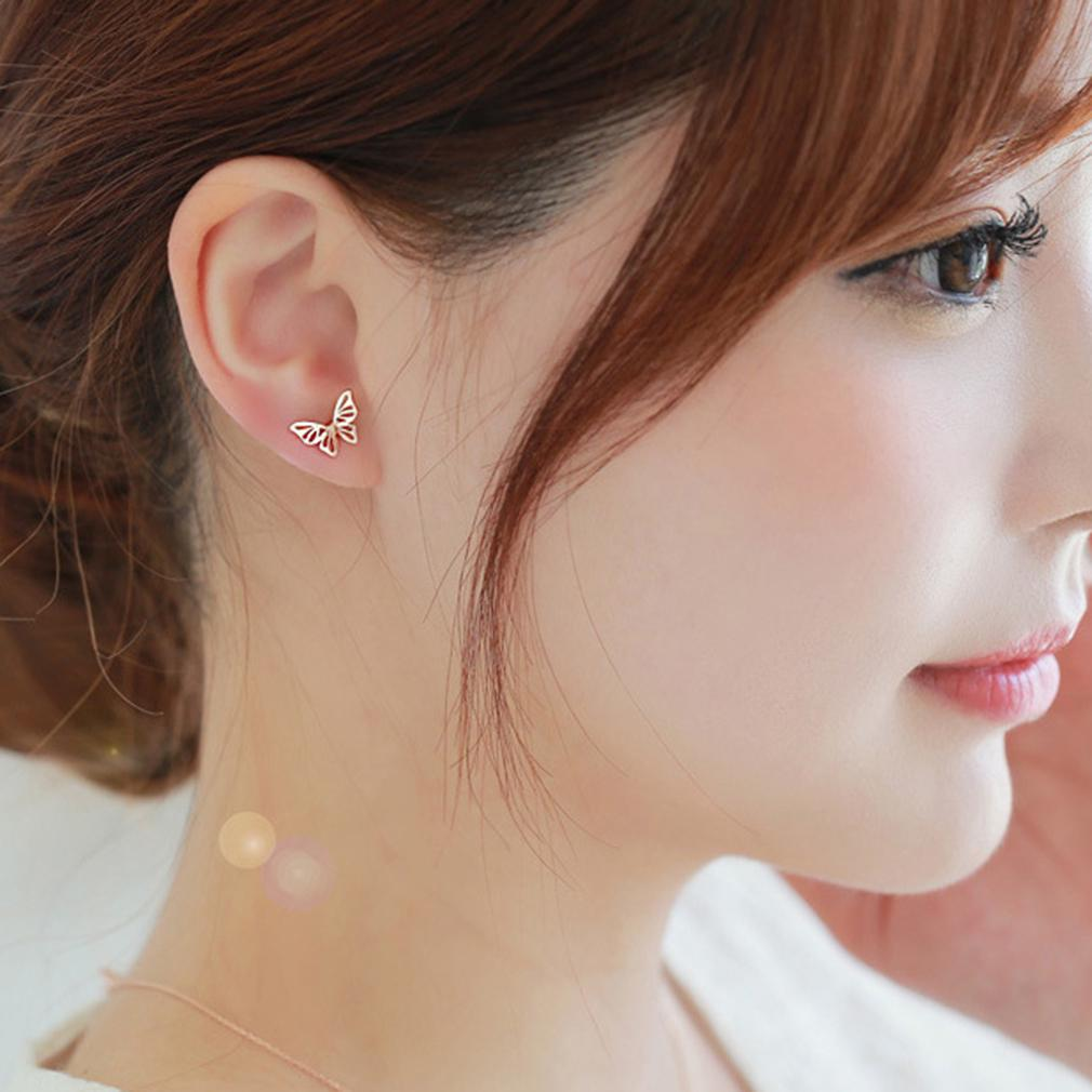 Gift Jewelry White Opalite Sterling Silver Plated Stud// Earring 10 mm Handmade Jewelry