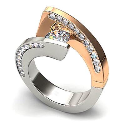 Women Crystal Rhinestone Rings Engagement Wedding Ring Band Gifts Size6-10