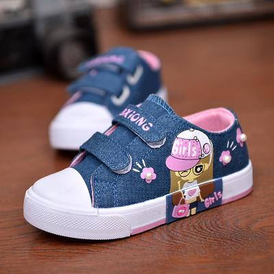 Fashion Kids Shoes Girls Canvas Shoes Girls Breathable Sport Shoes Toddler Baby Denim Sneakers