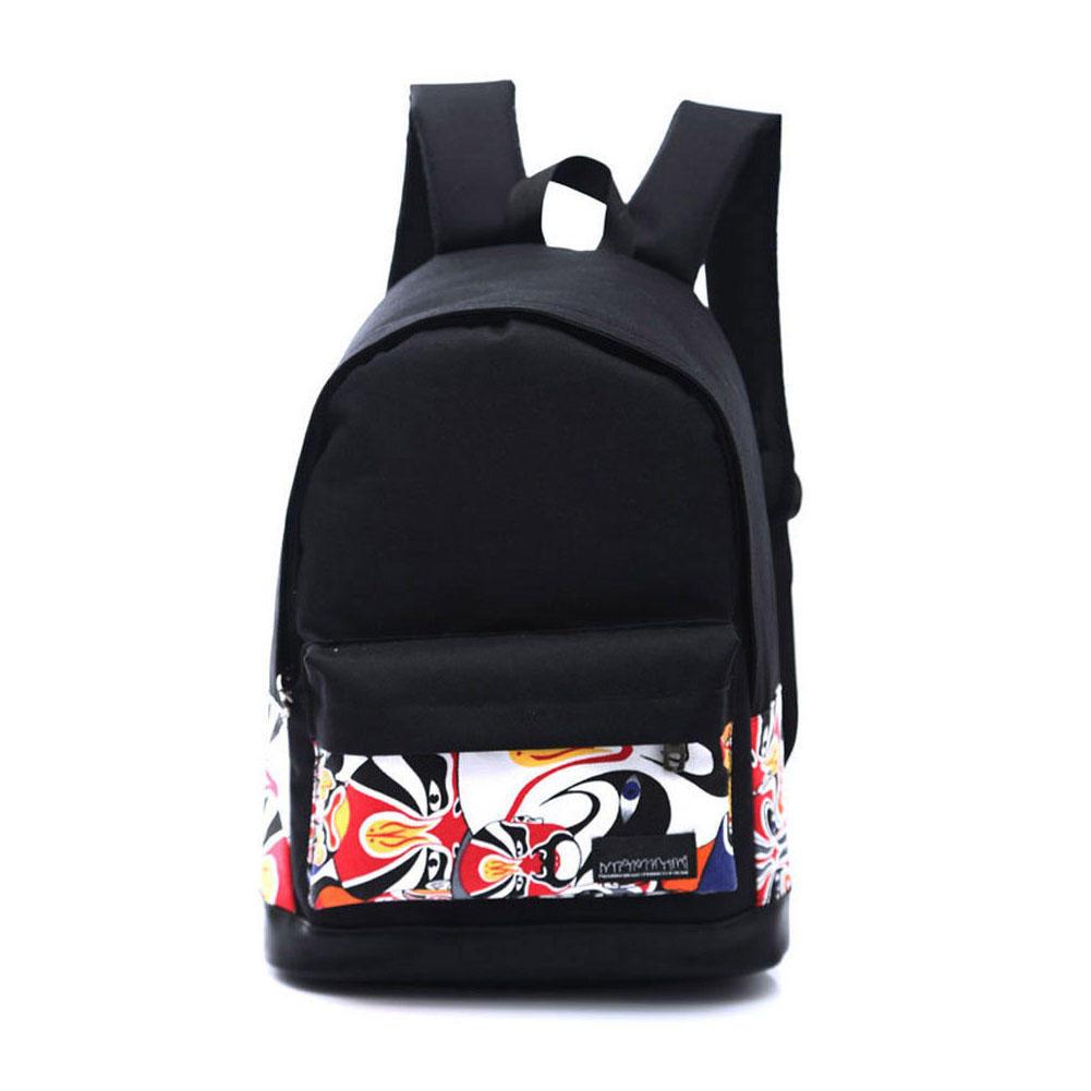 5ab36e25308ce Dziewczęta Kobiety Canvas School Bag Plecak turystyczny Tornister ...