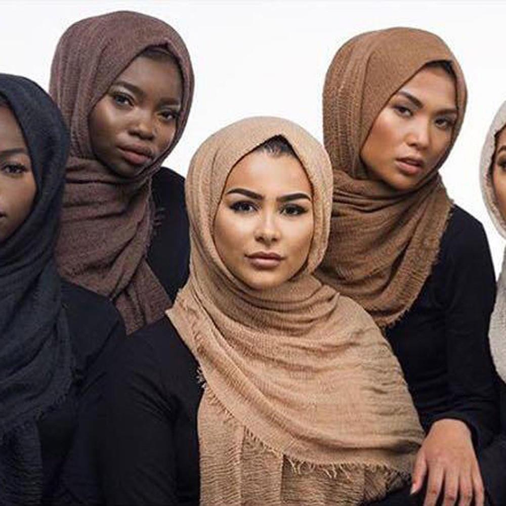 Nouveau en mousseline de soie hijab foulard élégant de haute qualité Sarong Châle Wrap Plain Maxi