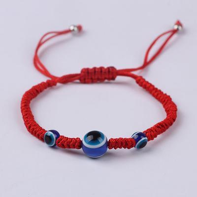 a987ac95978f Cuerda roja hilo granos Chakra azul ojo regalo parejas suerte ...
