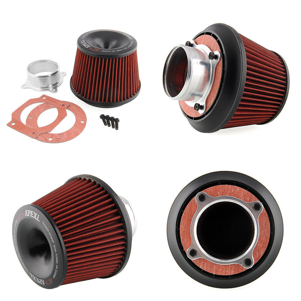 "RED UNIVERSAL 2.5/"" SMALL AIR FILTER FOR MERCEDES-BENZ AIR INTAKE 2+PIPE"