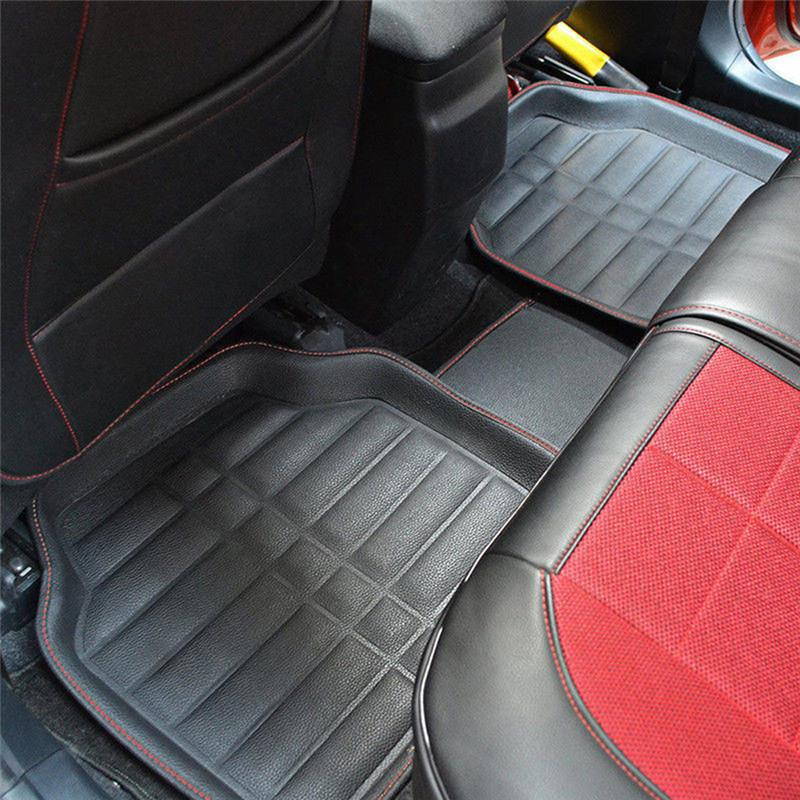 Beige Universal Car Floor Mats FloorLiner Front/&Rear Carpet All Weather 5Pcs Mat