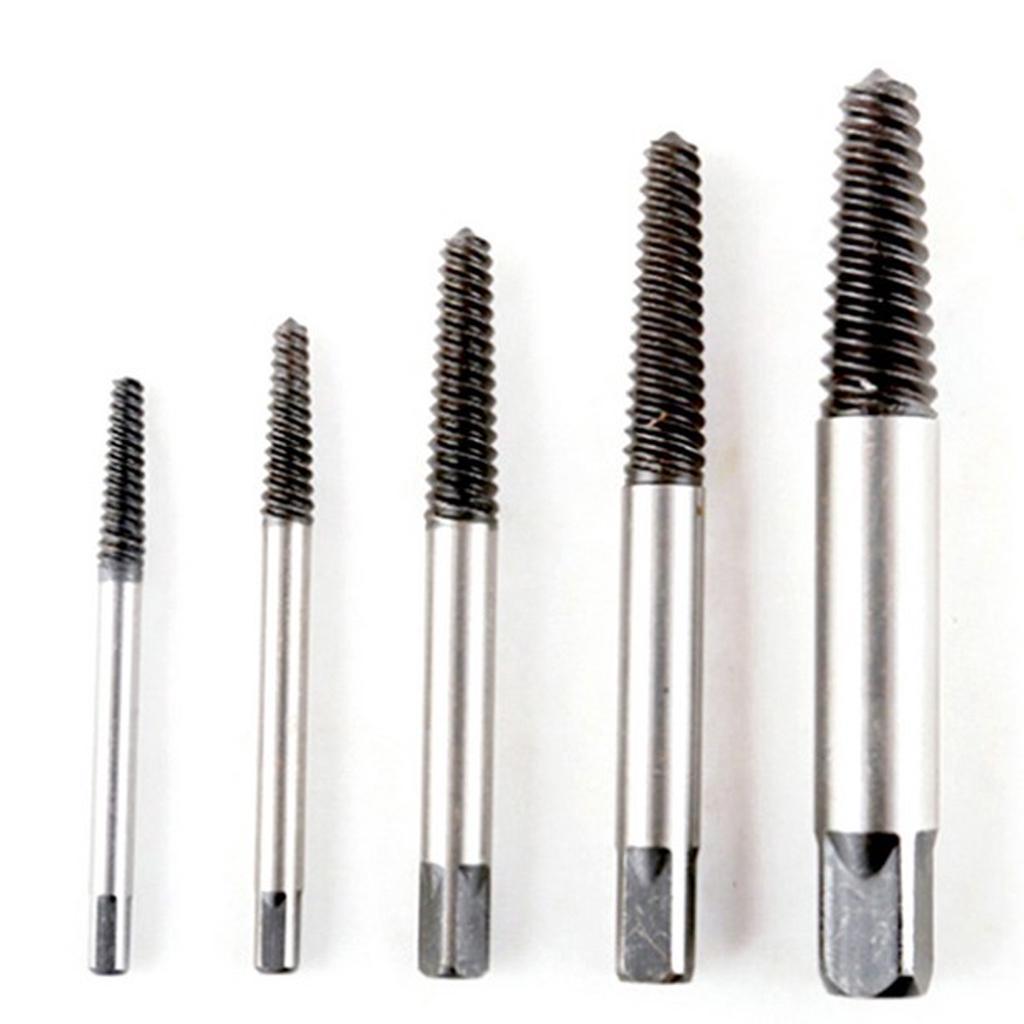 Drill bits 5pcs/set carbon steel screw extractor broken bolt remover drill  guide bits set