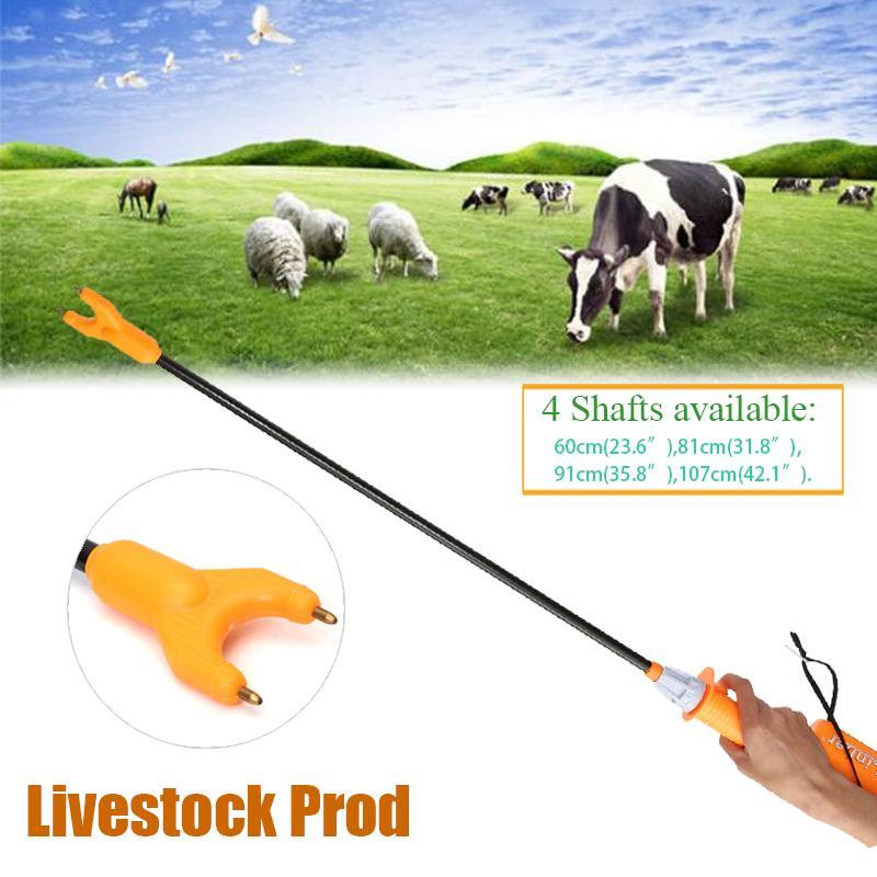 86cm Rechargeable Electric Livestock Cattle Pig Prod Shock Prodder Farm USA Sale