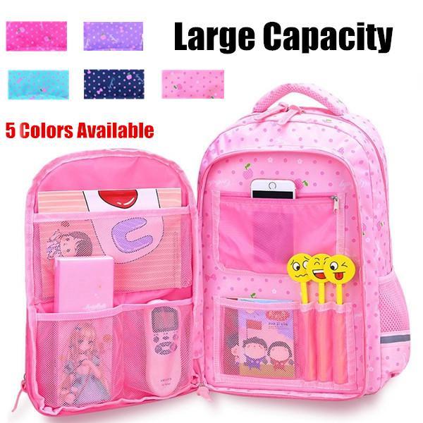 Pink Bevalsa Backpack Schoolbag Rucksack for Kids Teenagers Girls Women Large Capacity 47CM 24 Liters Nylon Water Resistant Fashion Casual Laptop Travel College Daypack