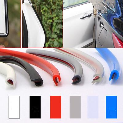 5M Car Scratch Door Edge Bumper Guard Protector Molding Strip Rubber Trim White