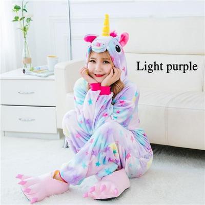 916298b6 Animal Unicorn Onesie Kigurumi Pajamas Set Adult Unisex Costume ...