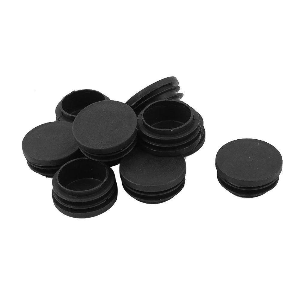 100pcs Round Plastic White  Blanking End Cap Caps Tube Pipe Inserts Plug 16mm