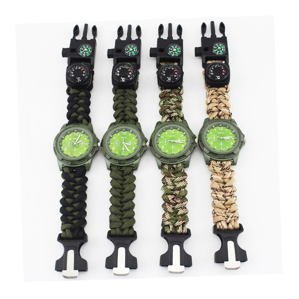 Multi-functional Outdoor Bracelet Camping Hiking Survival Gear Escape Multi L9R7