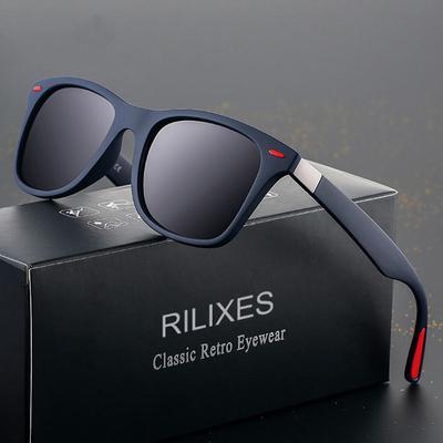 Design Classic Polarized Sunglasses Men Women Driving Square Frame Sun Glasses Male Goggle UV400