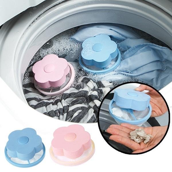 4Pcs Reusable Washing Machine Lint Catcher,Floating Hair Filtering Mesh Removal Washing Machine Wool Device,Floating Lint Mesh Bag for Washing Machine
