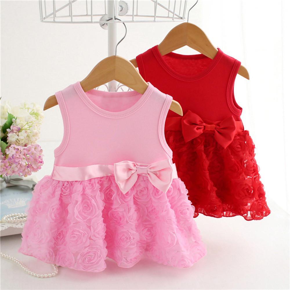 Infantil Tutu Arco Bebé Niñas Encaje Vestido Floral Cumpleaños Ropa 80OPnwkX