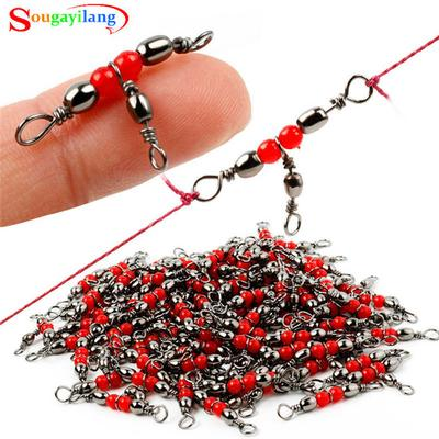 20pcs//Lot Fishing Hook Solid Ring Rolling Swivel Practical Fishing 5 Styles New