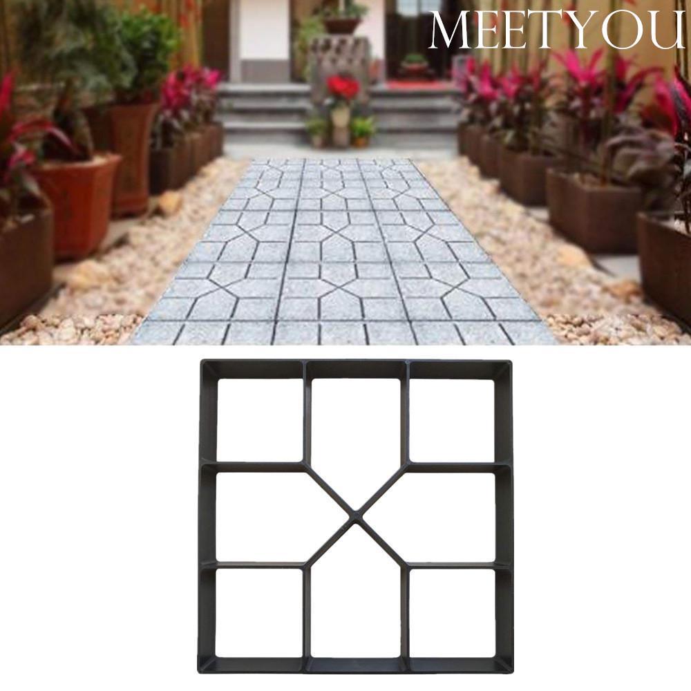 #N//A Garden Decoration DIY Path Maker Concrete Molds Cement Mold Concrete Cement Stone Walk Paving Paver Concrete Brick Mold