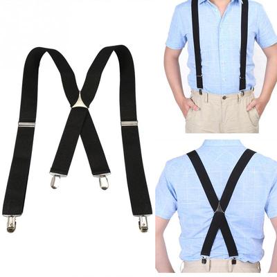 MenS Suspenders 3.5 Width Suspender for Adult Adjustable Elastic X Back Pants Braces