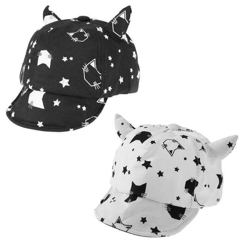 Printemps Automne Coton Baby Hat Solid Boy Cap Béret Animal solide Kids chapeau de soleil