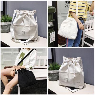 1dd1fc8db108 Холст ведро мешок малых случайных сумки через плечо Сумки Messenger лета  женщин шнурок нажмите дешево