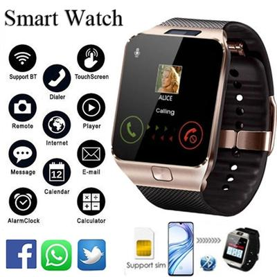 1.44 TFT LCD Touch Screen Smart Watch DZ09 Smart Band  Music Video Player Bluetooth Diale SIM Camera For Android IOS