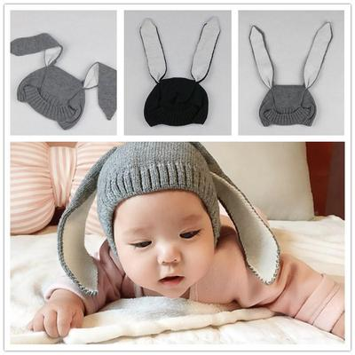 Winter Wool Knitted Hat For Boys Girls Baby Rabbit Ear Funny Hat Warm  Creative Hat New 72821bc42d0e