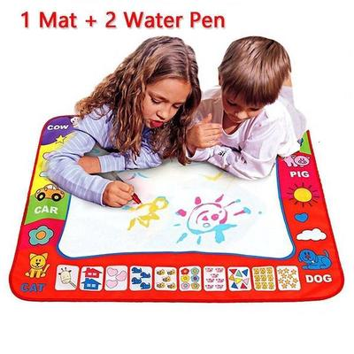 Water Painting Drawing Writing Board Mat Magic Pen Doodle Toy For Baby Kids Gift