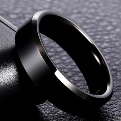 High Quality Titanium Stainless Steel Rings Fashion Black Party Rings for Men