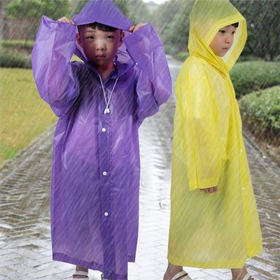 Clobeau Kids Girls Raincoat Baby Boys Girls Rain Poncho Rain Wear Cape Jacket Rain Gear