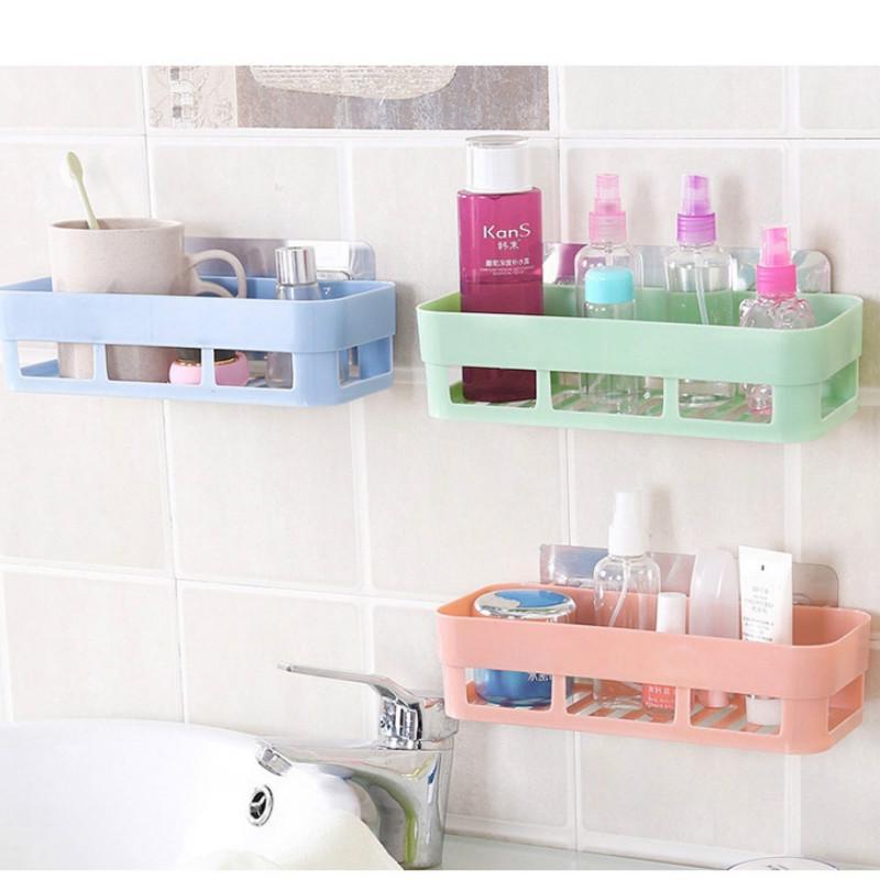 Punch Free Bathroom Shelf Plastic, Hanging Bathroom Shelf