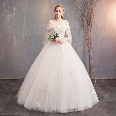 9abd8ad4376 В белых темперамент стиль Свадебные кружева невесты свадьба плечо тонкие  Свадебные дамы связали