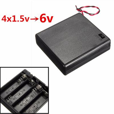 15cm Lead 2 x Triple AA Battery Holder with Slide Switch Holds 3 AA Batteries