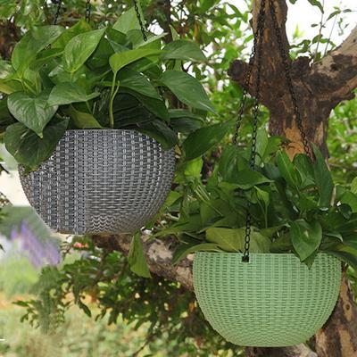Roślinny Wieszak Sadzarka Na Zewnątrz Rattan Waven Kosze Innowacyjne Doniczki Juta 1 Pc