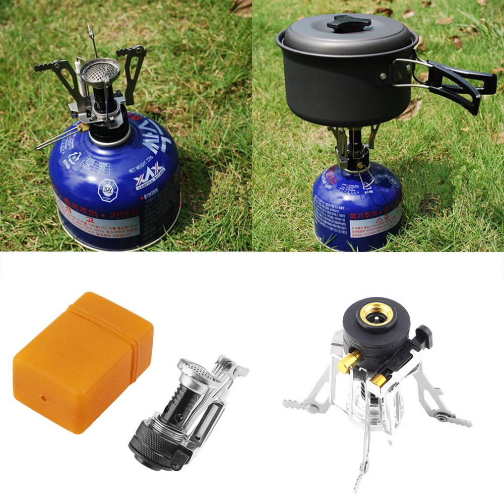 Folding Portable Gas-Burner Outdoor Cooking Camping Picnic Cook Stove FA